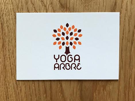 Carte De Visite Yoga Arbre